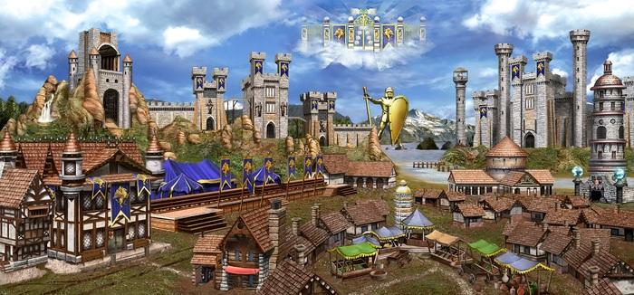 Замки из HOMM3 для рабочего стола большого разрешения HOMM III, Герои меча и магии, Длиннопост, Обои на рабочий стол, Компьютерные игры