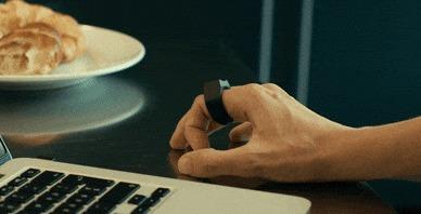 Padrone - кольцо, призванное полностью заменить привычную компьютерную мышь и тачпад Компьютер, Компьютерная мышка, Круто, Технологии, Гаджеты, Гифка