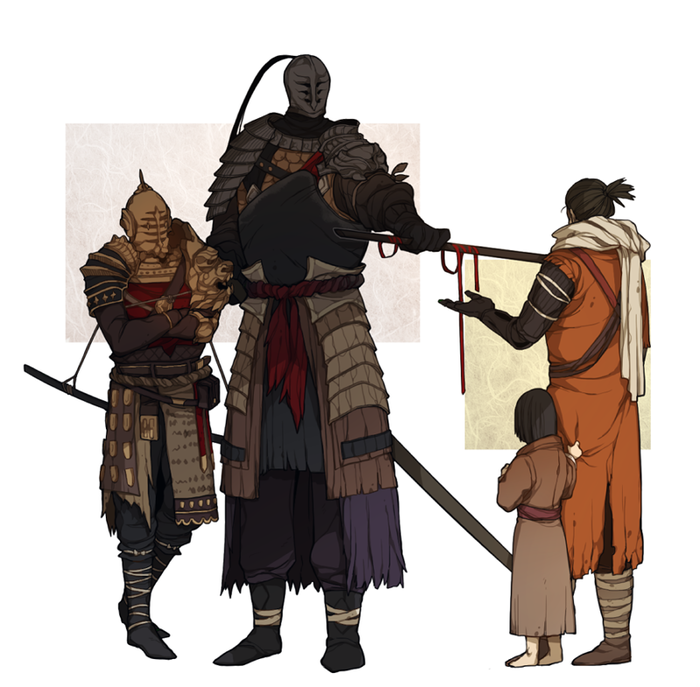 Art Donar0217, Dark Souls, Sekiro: Shadows Die Twice, Игры, Арт, Crossover