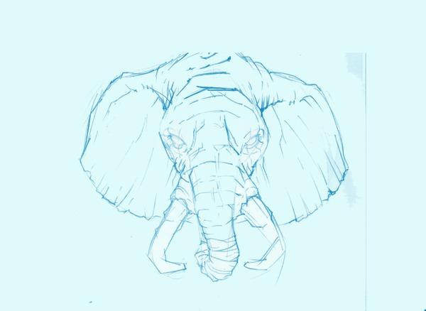 SLON Розовый слон, Арт, Цифровой рисунок, Photoshop, Гифка, Рисунок, Этапы, Слоны, Животные