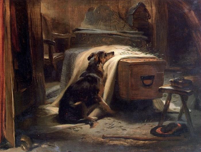 Скорбящий о старом пастухе, 1837, Эдвин Ландсир