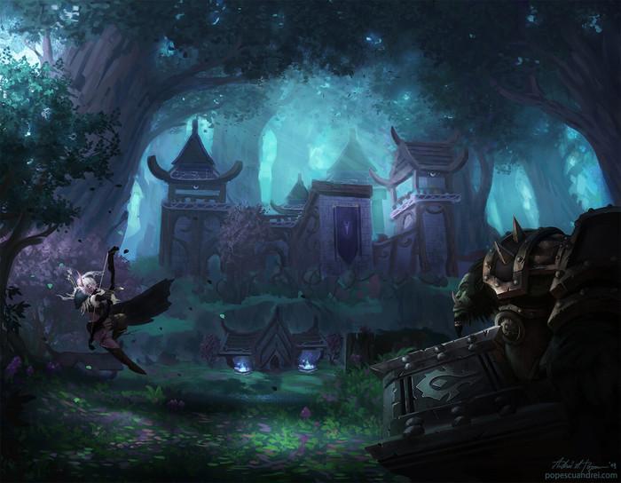 Очередной бой на Варсонге. Автор:Andrei Popescu. WOW, Warcraft, World of Warcraft, Blizzard, Game Art, Арт, Творчество