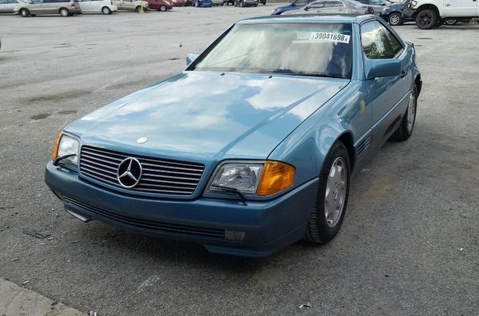 Угнанный 27 лет назад «Мерседес» SL 500 нашли почти новым. � сразу решили продать Mercedes-Benz SL 500, Длиннопост, Авто, Мерседес, Угон машины, 90-е, Угон