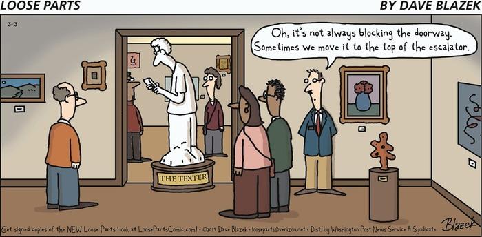 Скульптура 'человек, пишущий сообщения' Комиксы, Телефон, СМС