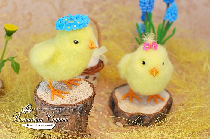 Цыплята (сухое валяние) Ручная работа, Длиннопост, Рукоделие без процесса, Своими руками, Сухое валяние, Весна, Цыплята
