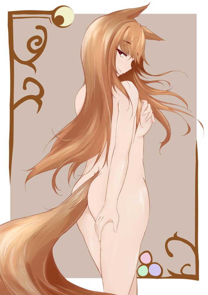Что длиннее, волосы или хвост? Anime Art, Волчица и пряности, Horo Holo, Holo, Animal Ears
