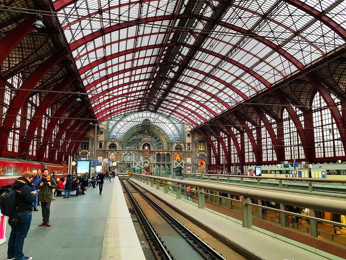 Красивейший вокзал Европы Вокзал, Жд вокзал, Антверпен, Фландрия, Архитектура, Длиннопост, Бельгия