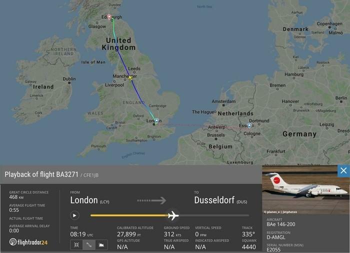 Летевший в Германию из Англии самолёт British Airways по ошибке приземлился вШотландии Великобритания, Германия, Шотландия, Текст, Длиннопост, Новости, Авиация