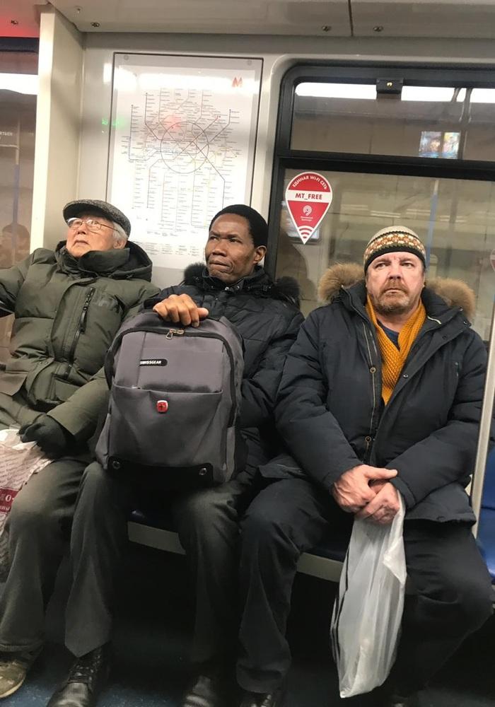 Встретились как то китаец, негр и хохол... Юмор, Московское метро