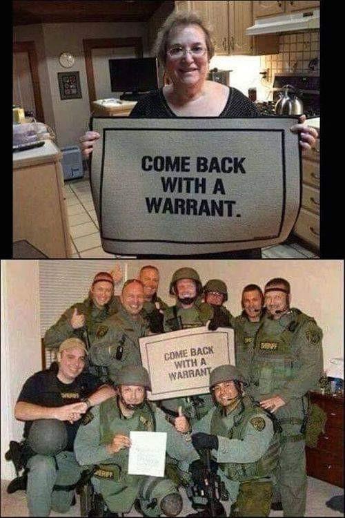 Как пожелаете Обыск, Полиция, Ордер на обыск, Коврик