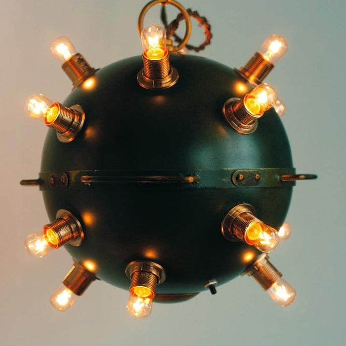 """Лофт светильник """"морская мина"""" Лофт, Светильник, Лампа, Мина, Видео, Своими руками"""