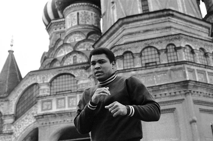 Боксер Мухаммед Али с визитом в Москве. Бокс, Спорт, Москва, Россия, Фотография, Легенда, Длиннопост