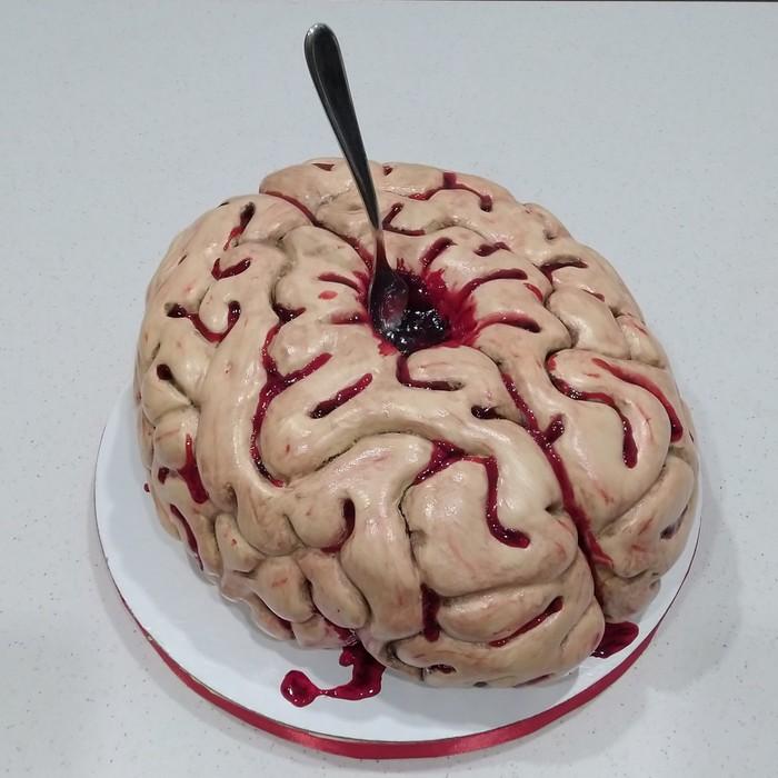 Криповый тортик. Мозг, Кондитер, Крипота, Подарок, Торт