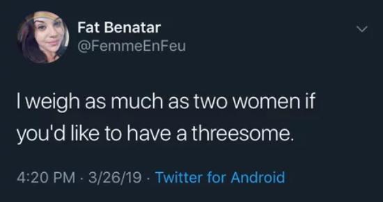 На тот случай, если тебе захочется попробовать секс втроём... Секс, Вес, Twitter, Скриншот
