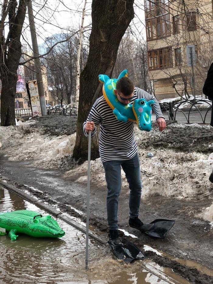 В Перми активисты решили бороться с лужами Пермь, Аквапарк, Лужа, Длиннопост