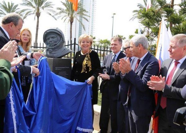 В Израиле установили памятник Юрию Гагарину