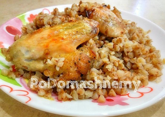 Гречка с курицей в духовке Видео, Гречка, Курица, В духовке, Рецепт, Еда