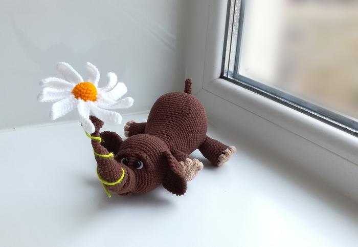 Вязаный слоненок Вязание, Рукоделие без процесса, Амигуруми, Рукоделие, Своими руками, Слоны