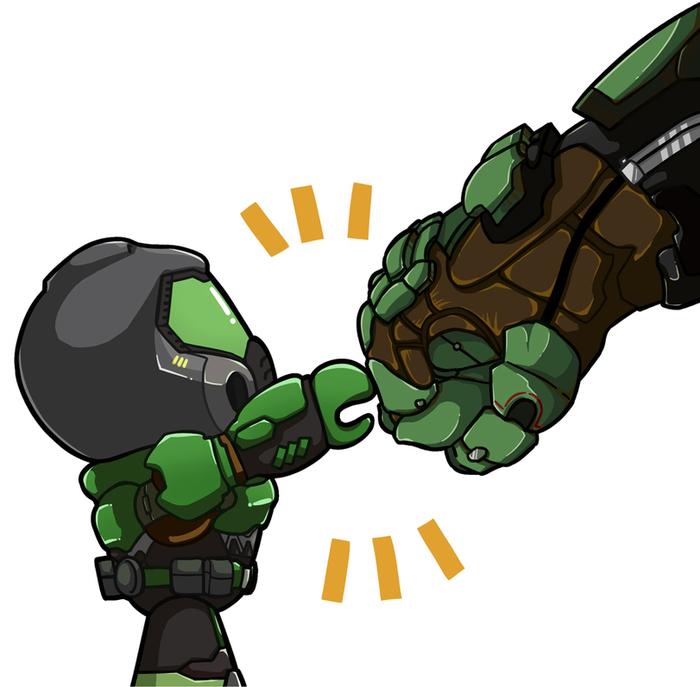 Doom-fist Doom, Игры, Арт