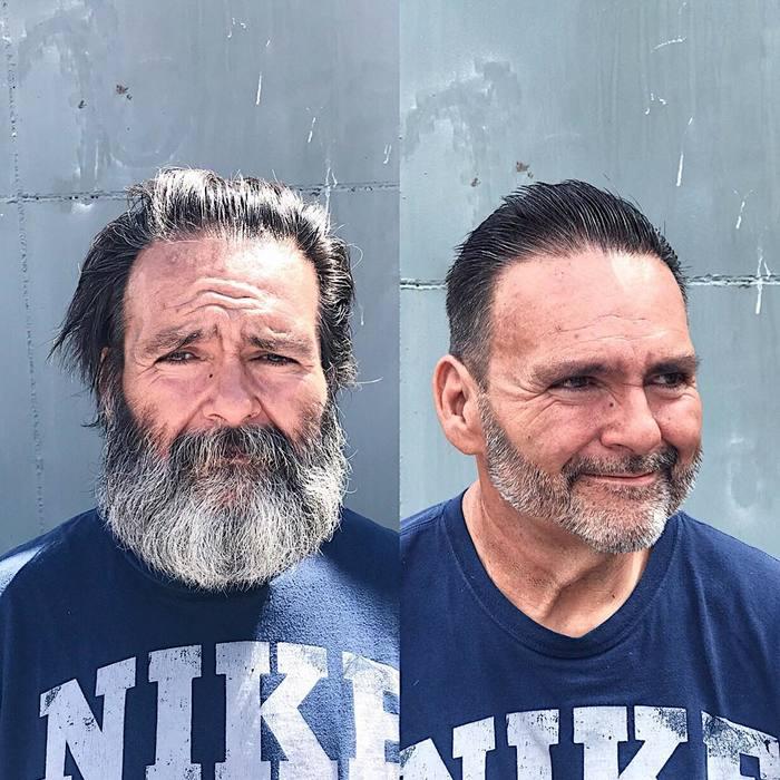 Парикмахер подарил бездомным модные стрижки Парикмахер, Стилист, Бездомные, Добрые дела, Поступок, Длиннопост
