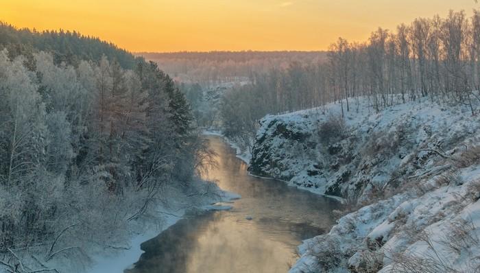 Утро. Река Миасс.