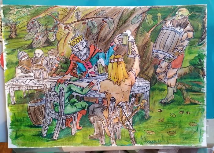 Иллюстрация на песню группы Король и Шут Король и Шут, Иллюстрации, Рисунок, Длиннопост