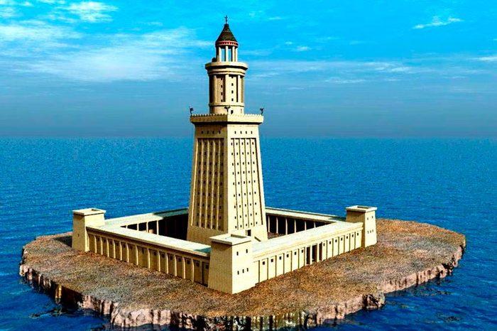 Александрийский маяк, он же Фаросский - высочайшая конструкция Древнего мира. Александрийский маяк, Чудеса света, Александр Македонский, Античность, История, Длиннопост