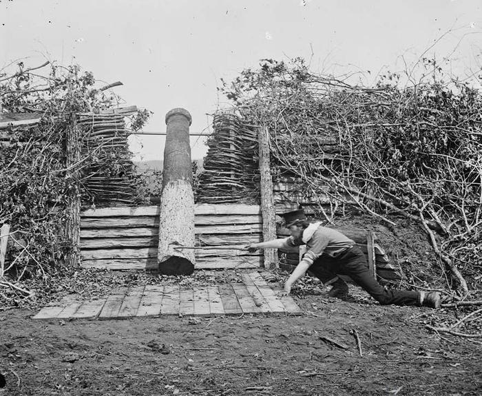 Квакерские орудия во время Гражданской войны в США История, США, Хитрость, Факты, Война, Оружие, Гражданская Война, Америка, Длиннопост