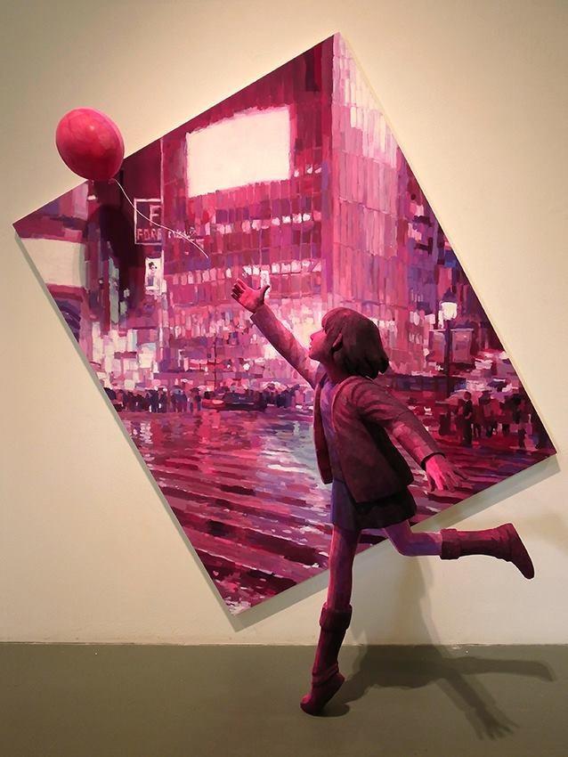 Трехмерная живопись японского художника Shintaro Ohata Арт, Живопись, Скульптура, Длиннопост