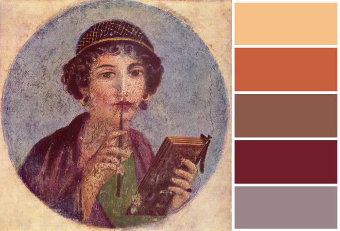 Краски Помпей Древний Рим, Помпеи, Фреска, Длиннопост, Пост 1 апреля 2019 г