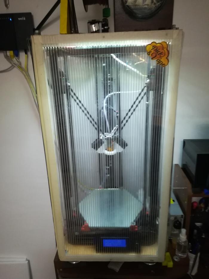 Модернизация по шагам Micromake D1 3D печать, 3D принтер, Дельта, Pla, Длиннопост