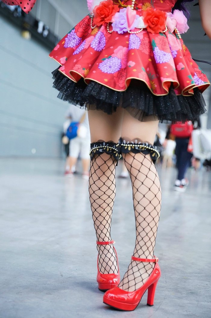 Красивое платье Zettai Ryouiki, Чулки, Платье, Ножки, Девушки, Длиннопост
