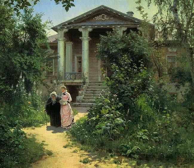 Василий Поленов «Бабушкин сад», 1878 год.
