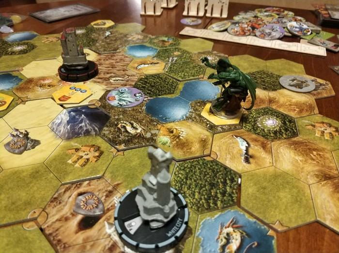 Что получается, когда фанат третьих Героев создает игру с похожей атмосферой в уме? Mage Knight, Маг-Рыцарь, HOMM III, Настольные игры, Влаада Хватил, Длиннопост, RPG, Настолки