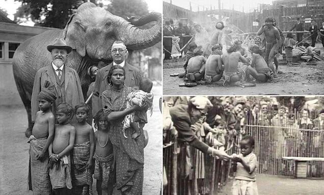 Человеческий зоопарк в Бельгии 1958г.