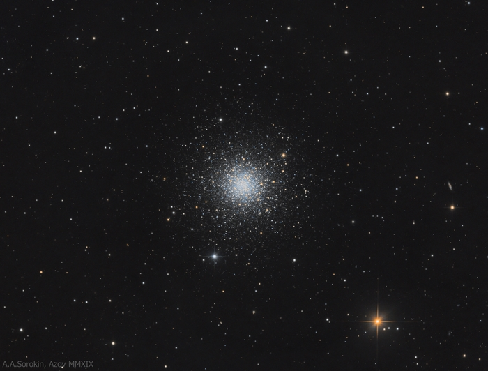 Шаровое звездное скопление M3 Астрофото, Астрономия, Космос, Звездное скопление, Телескоп