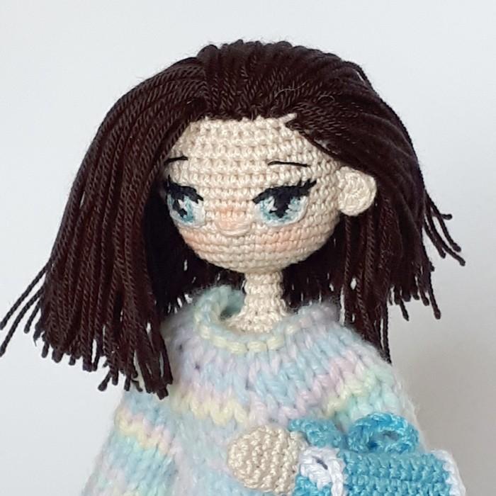 Апрельская куколка. Рукоделие без процесса, Кукла, Вязание крючком, Вязаные игрушки, Свитер, Рюкзак, Длиннопост