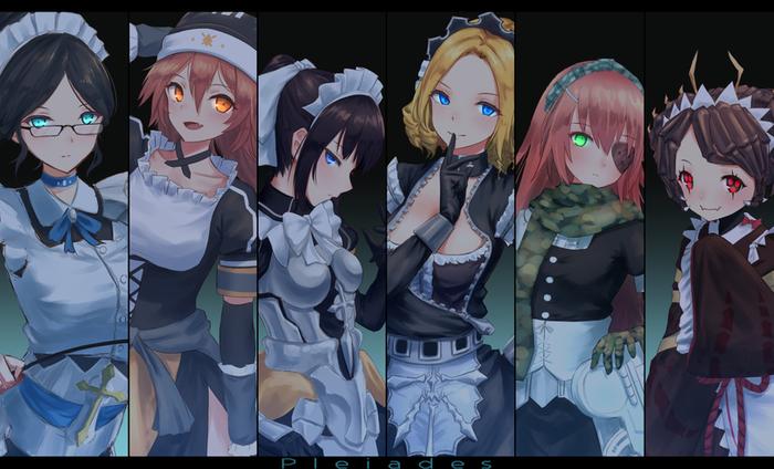Плеяды Аниме, Pleiades, Overlord, Yuri alpha, Lupusregina beta, Narberal Gamma, Solution Epsilon, Entoma Vasilissa zeta, Длиннопост