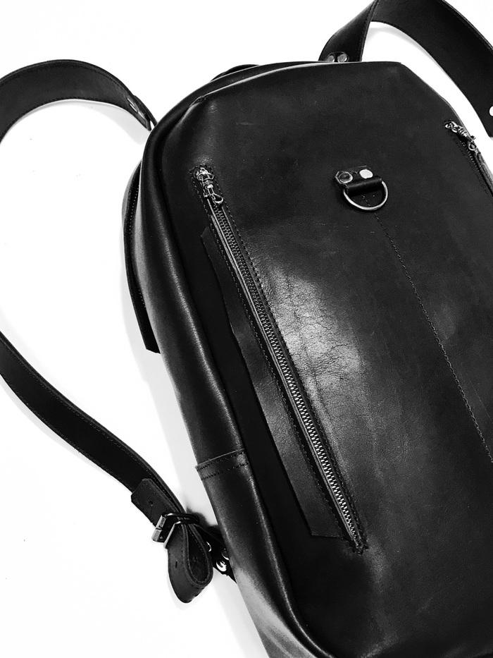 Новый проект Кожа натуральная, Рюкзак, Портфель, Сумка, Portal ame, Leather, Длиннопост, Черный