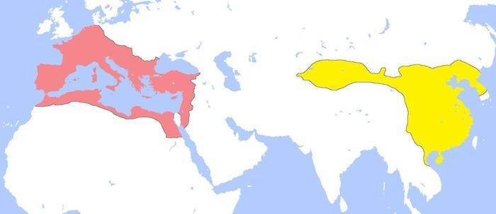 Римская империя и империя Хань История, Империя, Римская империя, Карты, Карта мира