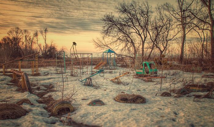 Немного тлена и безысходности городских окраин Фотография, Окраина, Детская площадка, Безысходность, Фотошоп мастер, Half-Life, Барнаул