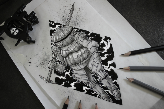 Siegward of Catarina Siegward of Catarina, Dark Souls 3, Тату, Арт, Dark Souls, Рыцарь