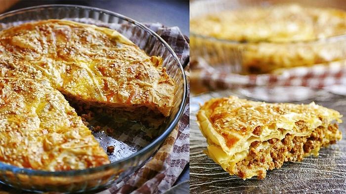 Пирог с мясом из теста фило | Очень просто и вкусно! Пирог, Выпечка, Рецепт, Видео рецепт, Видео