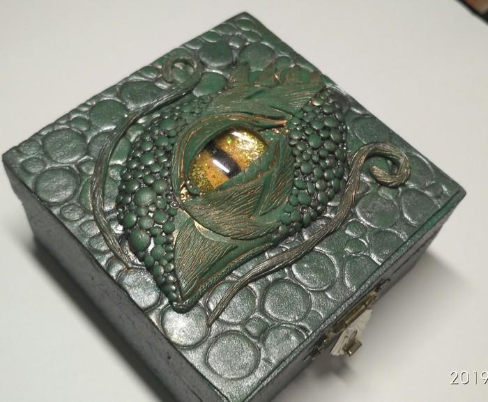 Шкатулки с драконом Полимерная глина, Глаз Дракона, Своими руками, Шкатулка, Длиннопост