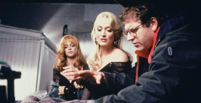 Фотографии со съёмок и интересные факты к фильмуСмерть ей к лицу 1992 год. Знаменитости, Мэрил Стрип, Брюс Уиллис, Роберт Земекис, Фото со съемок, 90-е, Длиннопост, Голди Хоун