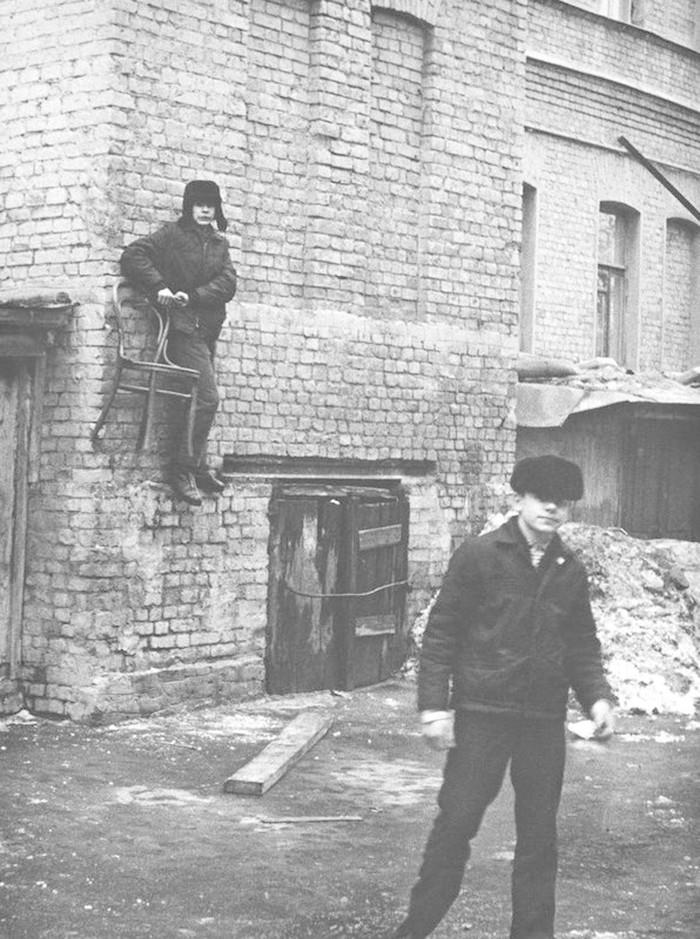 Дворовый баскетбол Фотография, Старое фото, СССР, Баскетбол