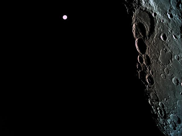 "Израильский аппарат ""Берешит"" на орбите Луны Берешит, Израиль, Луна, Техника, Космос"
