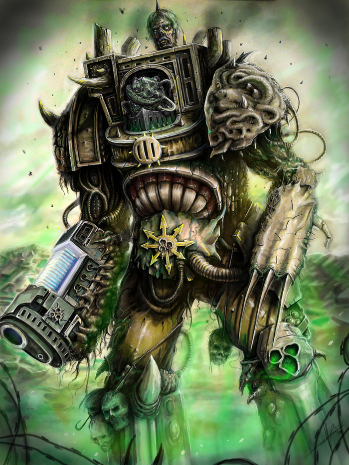 Plague terminator Warhammer 40k, Нургл, Chaos Space marines, Death Guard, Wh Art