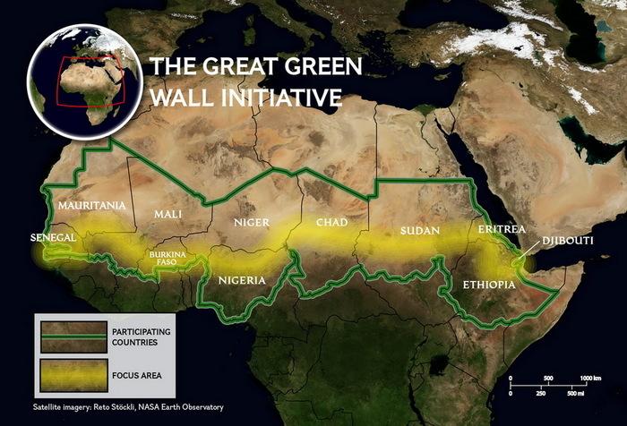 А вы знали, что уже «построено» 15% Великой Зеленой Стены в Сахаре Сахара, Африка, Экология
