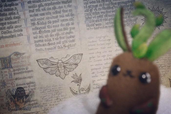 Mandrake Rabbit Мандрагора, Кролик, Ручная работа, Рукоделие без процесса, Полимерная глина, Длиннопост